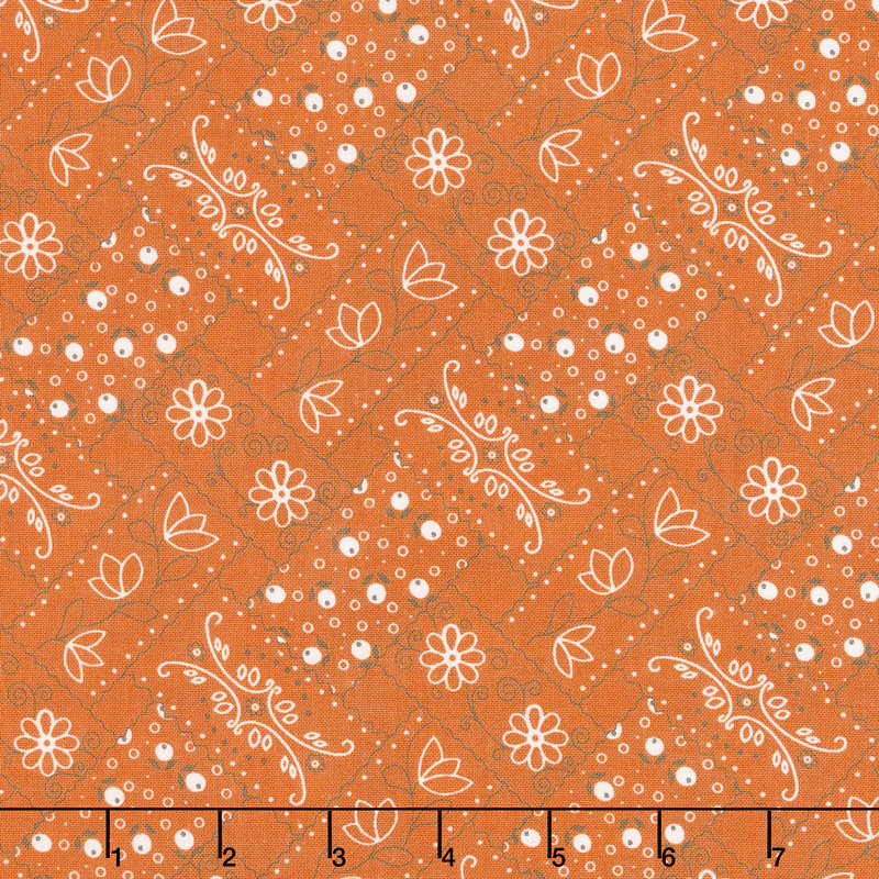 Farm Girl Vintage - Bandana Orange Yardage