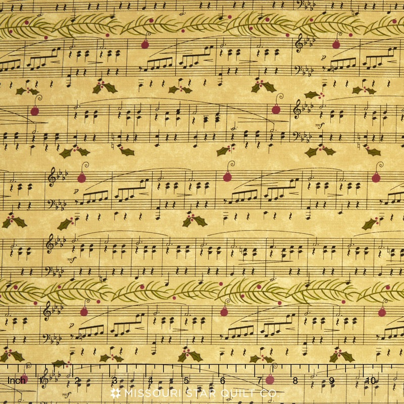 Delightful December - Musical Score Eggnog Yardage