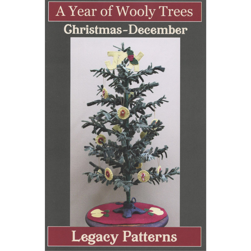 A Year of Wooly Trees Pattern - December Christmas