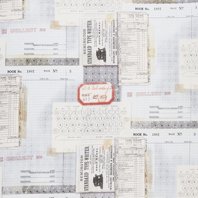 Eclectic Elements - Memoranda Typewriter Multi Yardage