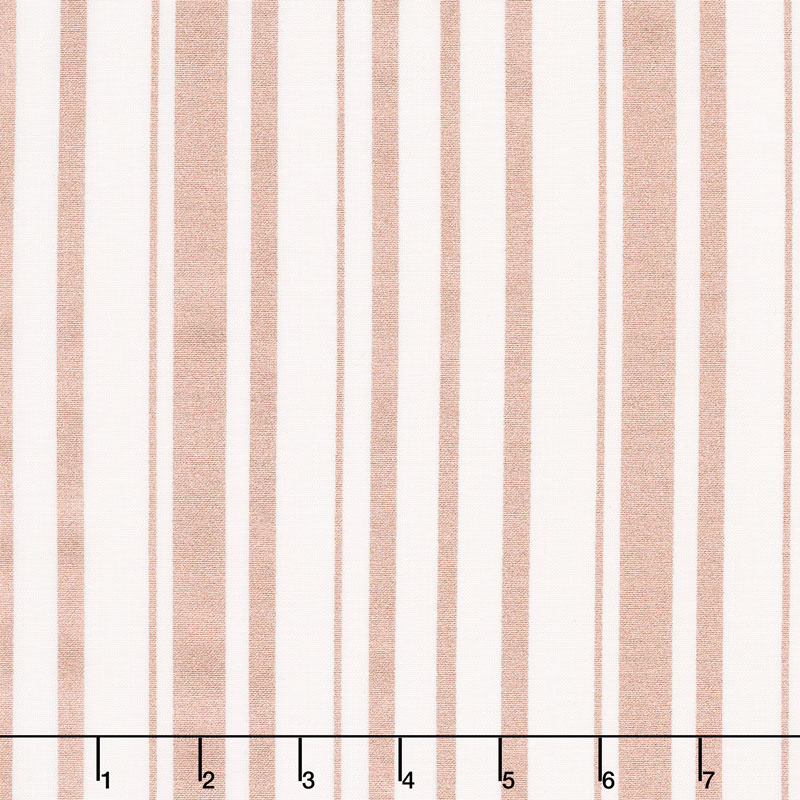 Bliss - Stripes with Rose Gold Sparkle Yardage