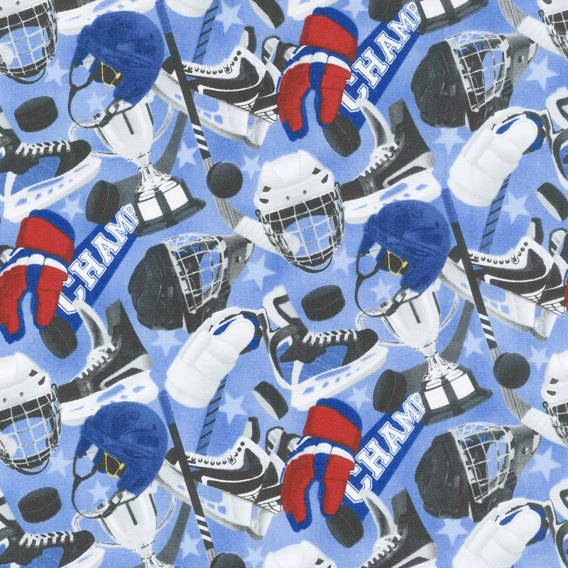 All Star Hockey - Equipment Toss Blue Multi Yardage