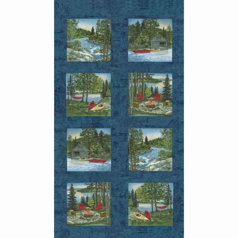 River Journey - Slate Blue Panel