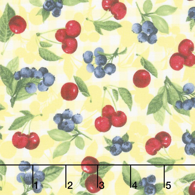 Ambrosia Farm - Cherry Berry Sunshine Fabric Yardage