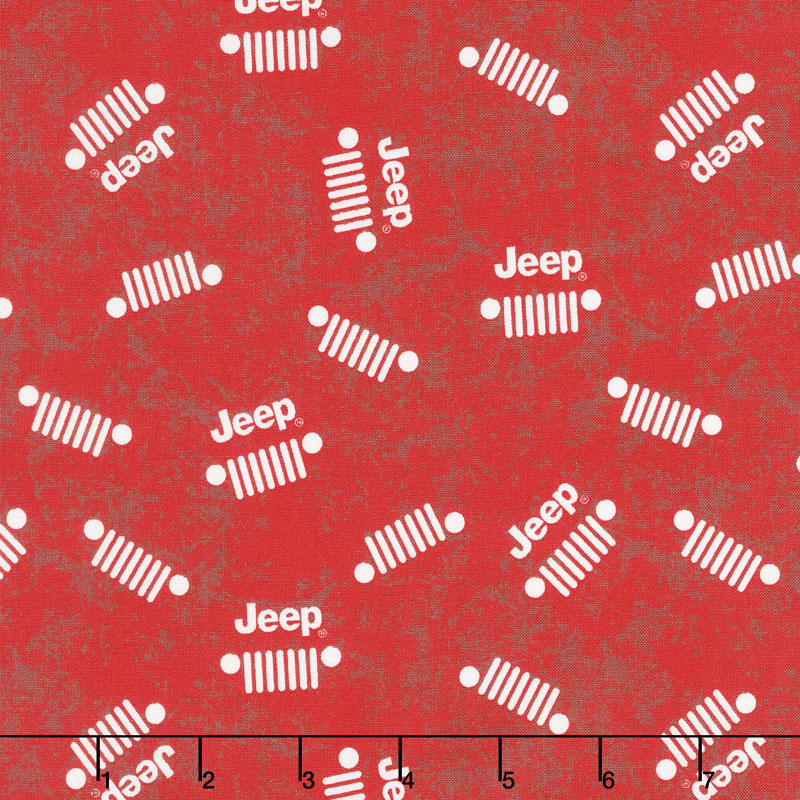 Jeep in the Wild - Jeep Logo Red Yardage