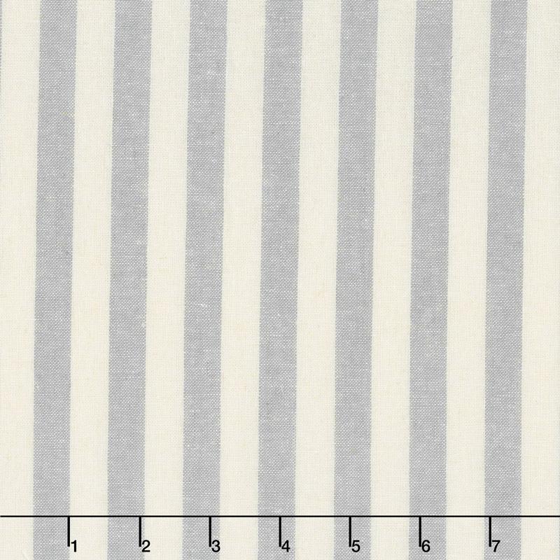 Essex Yarn Dyed Classic Wovens - Stripes Steel Yardage