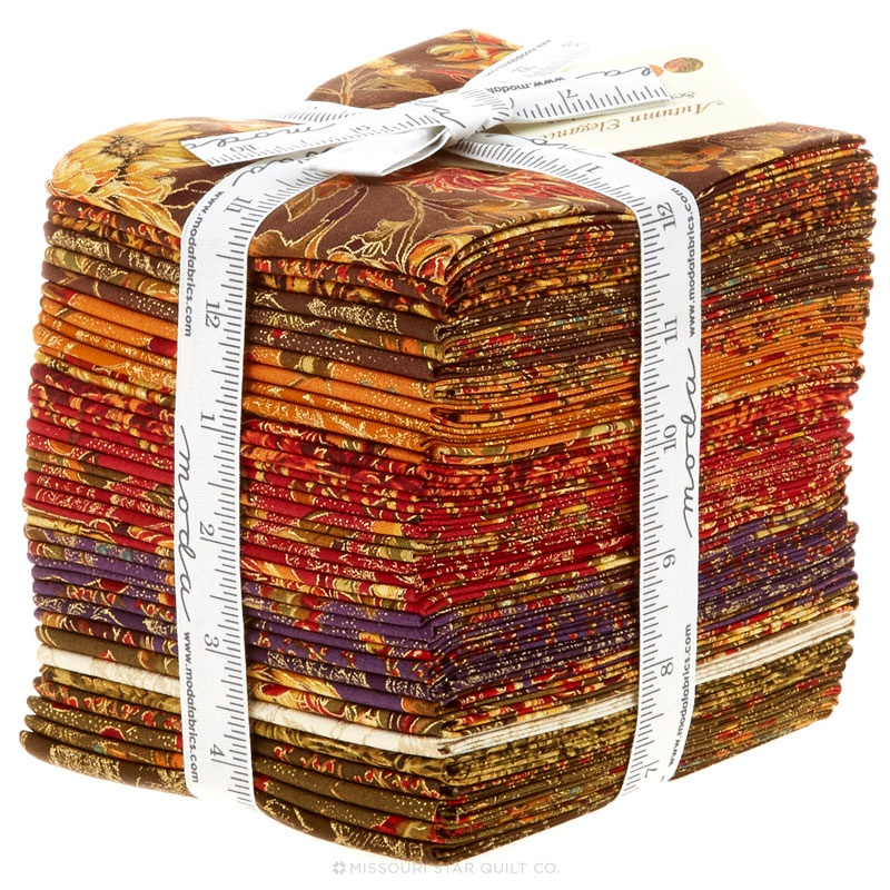 Autumn Elegance Metallic Fat Quarter Bundle - Sentimental ...
