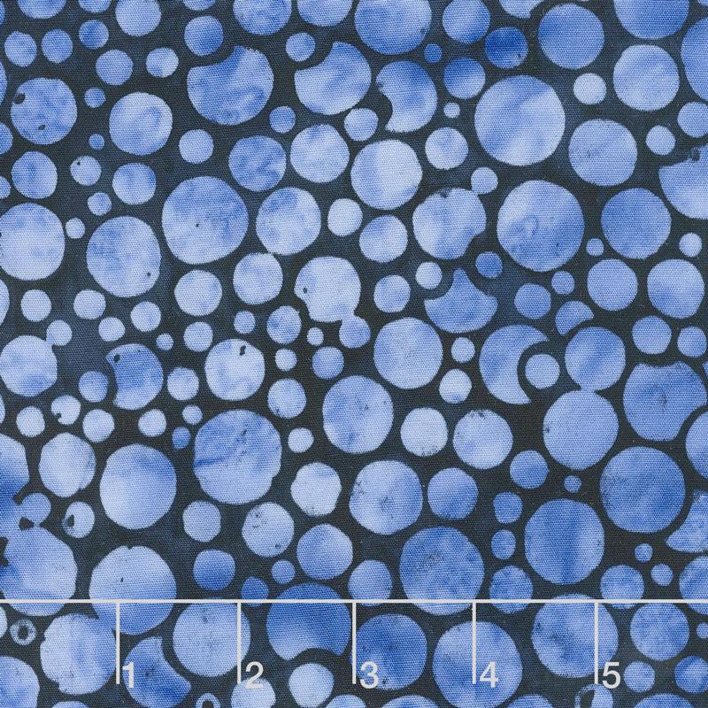 Blueberry Patch Batiks - Mini Bubbles Chambray Yardage