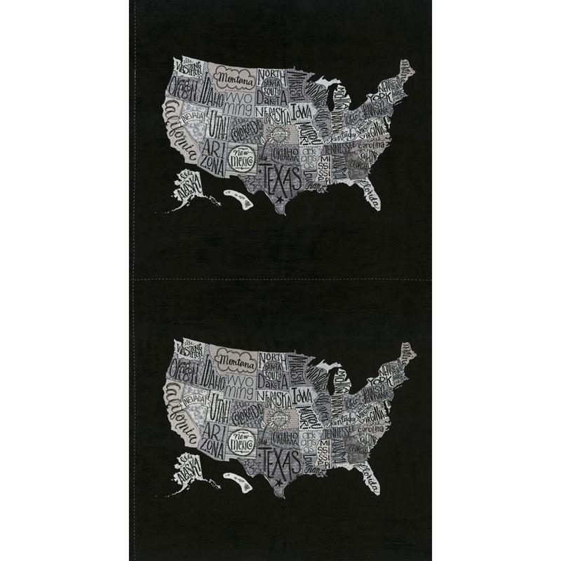 Metropolis - US Map Iron Panel