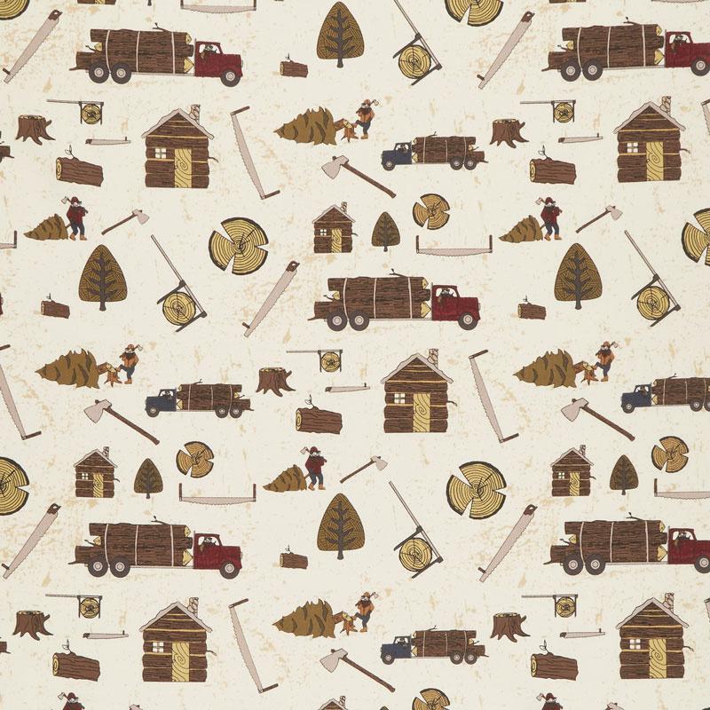 Lumberjack Aaron - Main Cream Yardage