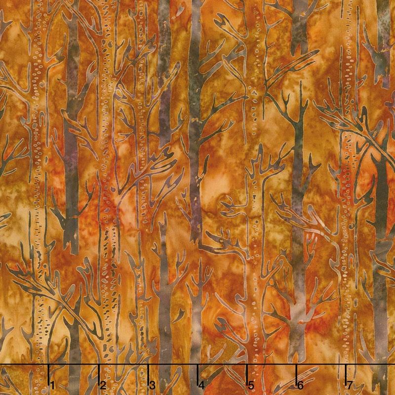 Artisan Batiks - Cornucopia 8 Tree Trunks Harvest Yardage