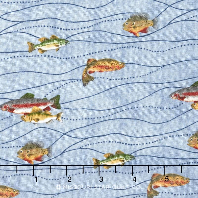 River Journey - Fishing Sky Blue Waters Yardage