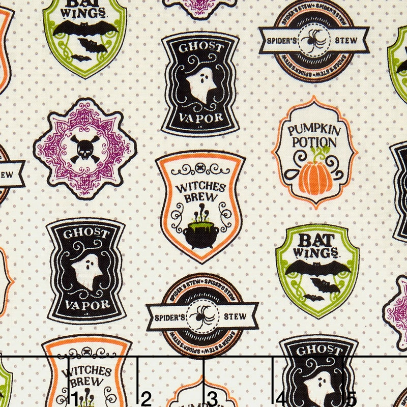 Eek Boo Shriek - Shriek Badge Cream Yardage