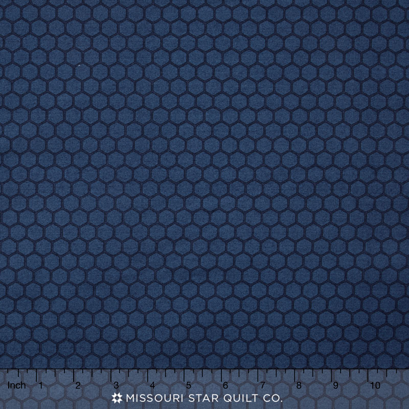 The Color Collection - Honeycomb Blue Yardage