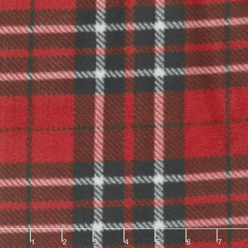 Winterfleece Prints Plaids and Checks - Classic Plaid Multi Fleece Yardage