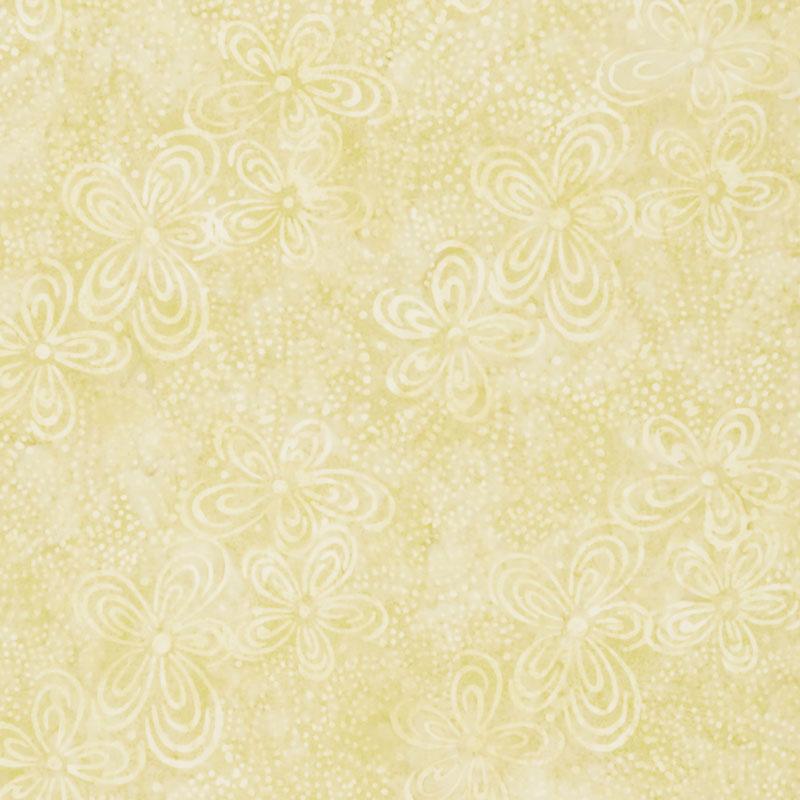 Queen Bee Batiks - Flora Yellow Yardage