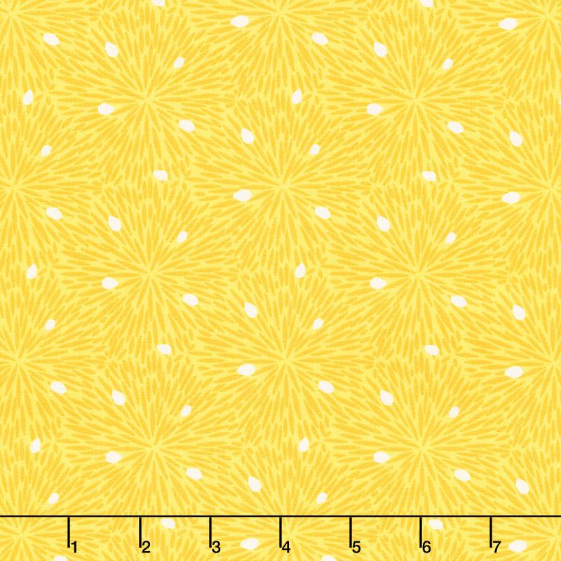 Splash of Lemon - Lemon Pulp Yellow Yardage