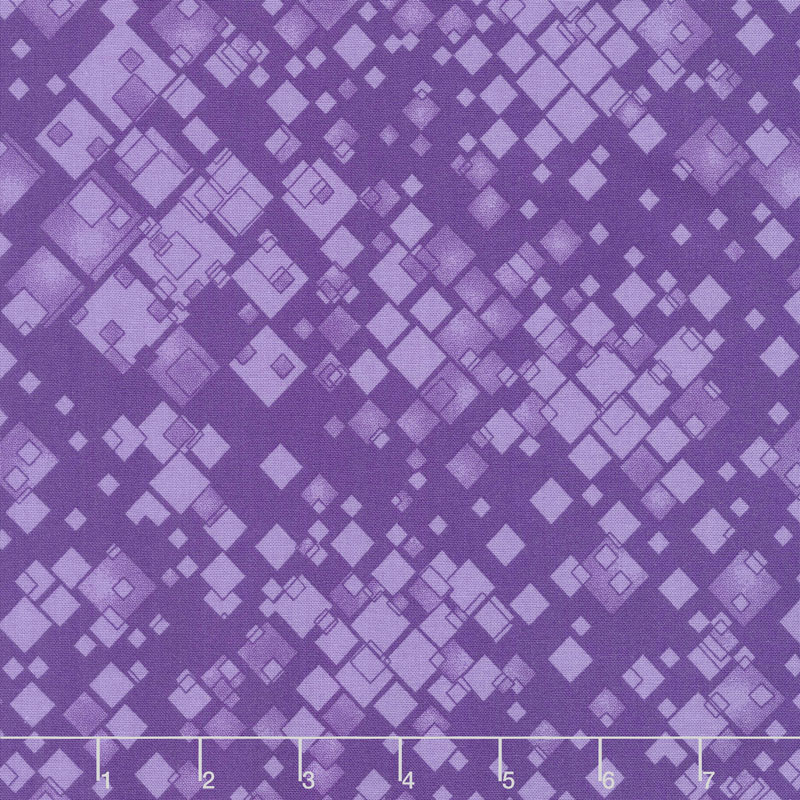 Cat-i-tude 2 - Squarely There Purple Yardage