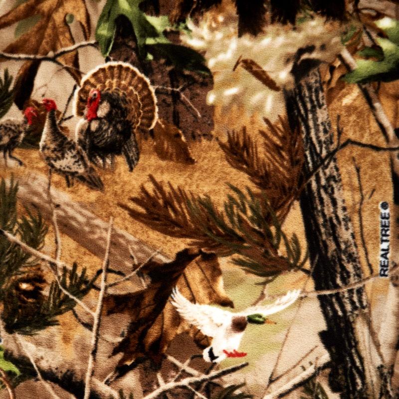 Fleece Licensed - Realtree Hidden Animals Multi Yardage