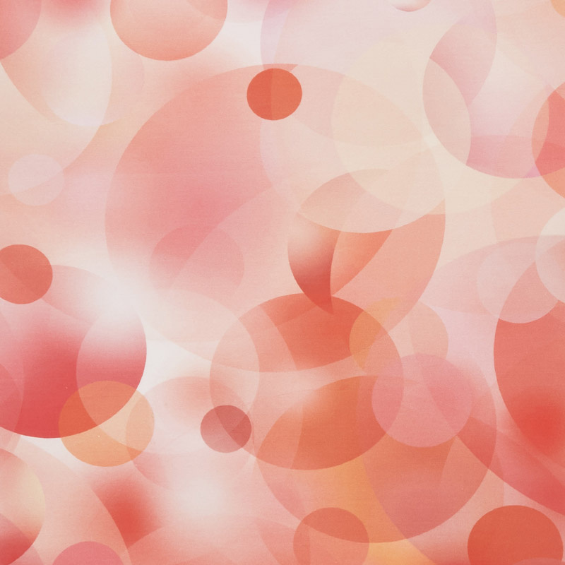 Gradients - Bubbles Reds & Pinks Digitally Printed Yardage