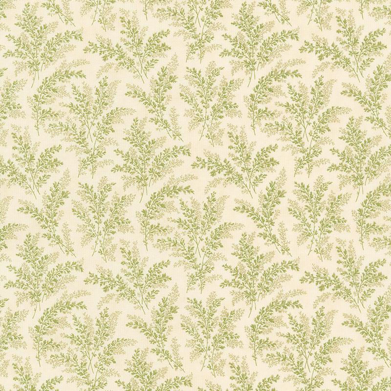 Mill Creek Garden - Ferns Ivory Green Yardage
