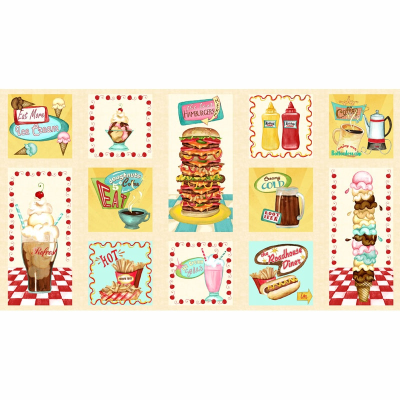 At the Diner - Hot Pad Multi Panel