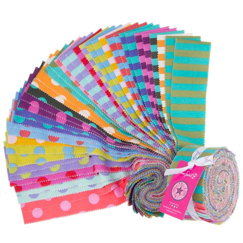 Tula Pink's All Stars Pom Poms & Stripes Design Roll