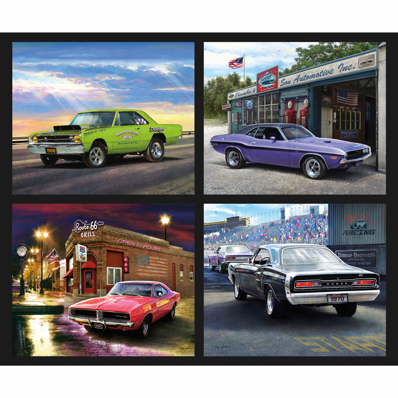 Dodge Muscle Cars Dodge Pillow Digitally Printed Panel Dodge