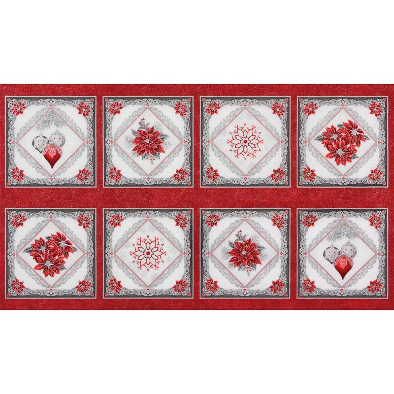 Holiday Flourish 12 - Scarlet Snowflakes Metallic Panel