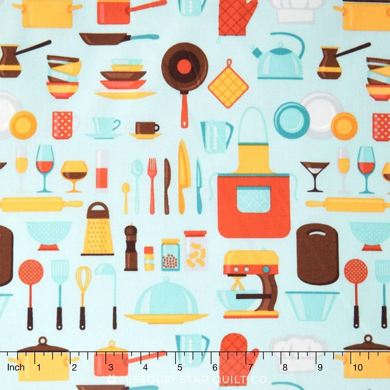 In the Kitchen - Kitchenware Fresca Yardage