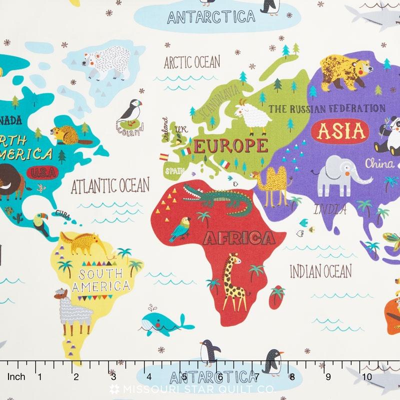 Hello world world map cream yardage abi hall moda fabrics hello world world map cream yardage gumiabroncs Image collections