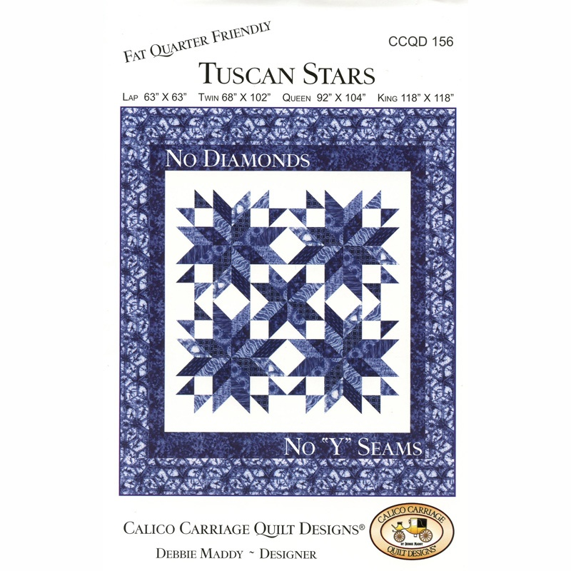 Tuscan Stars Pattern - Debbie Maddy of Calico Carriage Quilt ... : calico carriage quilt designs - Adamdwight.com