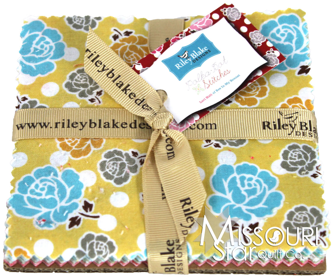 Polka Dot Stitches Charm Pack