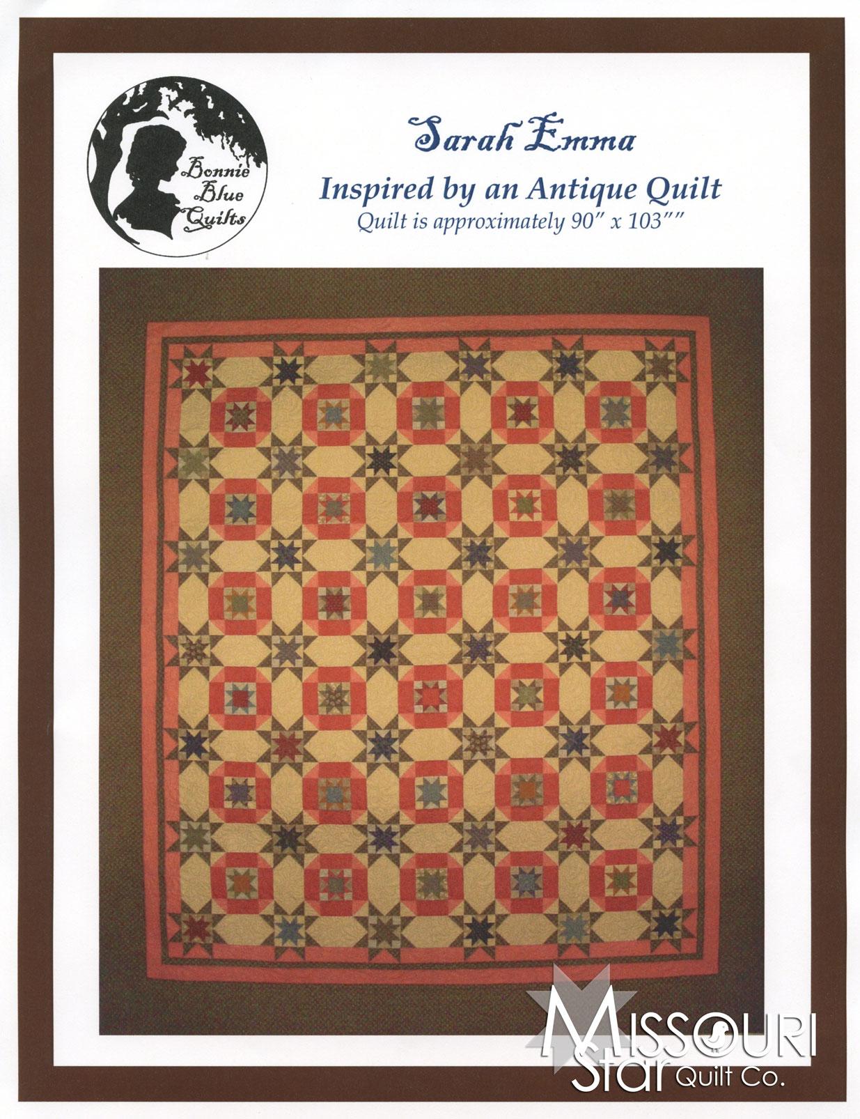 Sarah Emma Quilt Pattern - Paula Barnes - Bonnie Blue Quilts ... : emma quilt pattern - Adamdwight.com