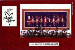 Santa's Christmas Card Wall Hanging / Table Mat Pattern