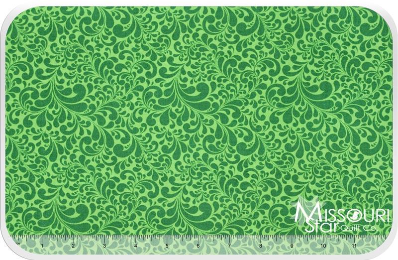 Swirl - Quail Swirl Green Yardage