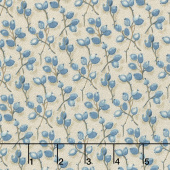 Royal Blue - Barberry Greige Yardage