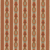 Lancaster - Main Stripe Light Rust Yardage