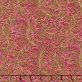 Cat - i - tude - Feather Frolic Raspberry Yardage