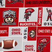 Fleece College - Ohio State Buckeyes Scarlet Yardage