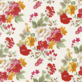 Farmhouse Floral - Main Cream Yardage
