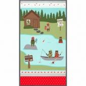 Brawny Bears Flannel - Lake Fishing Wild Flannel Panel