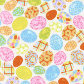 Carrot Patch - Easter Eggs Cream Yardage