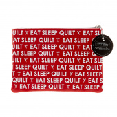 Eat Sleep Quilt Glam Bag