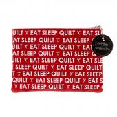 Eat Sleep Quilt Glam Bag