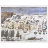 The Christmas Barn Digitally Printed Panel