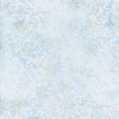 Artisan Batiks - Twilight Snowfall Snowflakes Sky Swirls Metallic Yardage