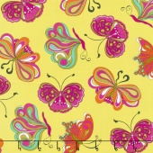 "Paloma - ""Pucci"" Butterflies Lime Yardage"