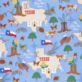 State Cottons and Panels - Texas: The Lone Star State Multi Yardage