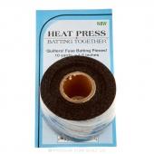 "Heat Press Batting Together - Black (1 1/2"" X 10yds)"